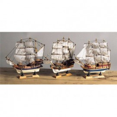 Galeones En Miniatura Decoración Marina (6u)
