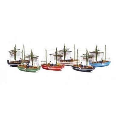 Barcos de Pesca Medianos Decoración (6u)