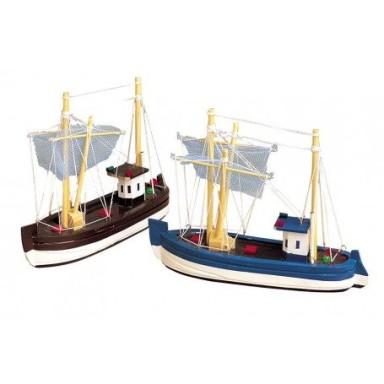 Barcas de Pesca Decoración Grandes (4u)
