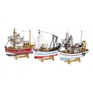 Barcos De Pesca Miniatura Decoración