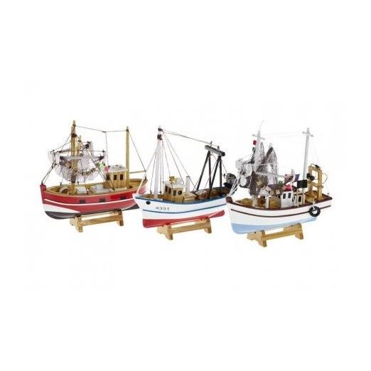 Barcos de pesca miniatura decoraci n nautica avi o - Decoracion de barcos ...