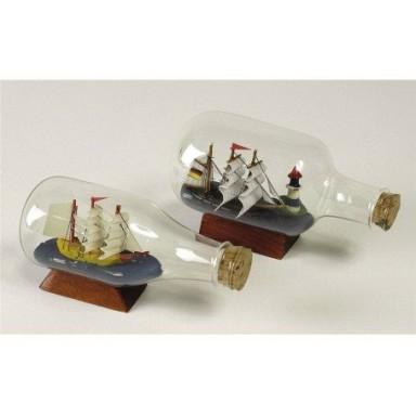 miniaturas barcos en botella decoracin