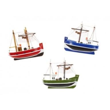 Imanes Barcos de Pesca Colores Decoración