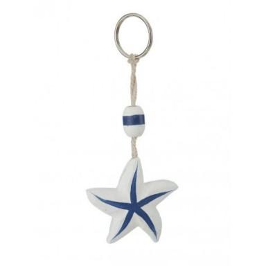 Llavero Estrella de Mar Blanca y Azul (6u)