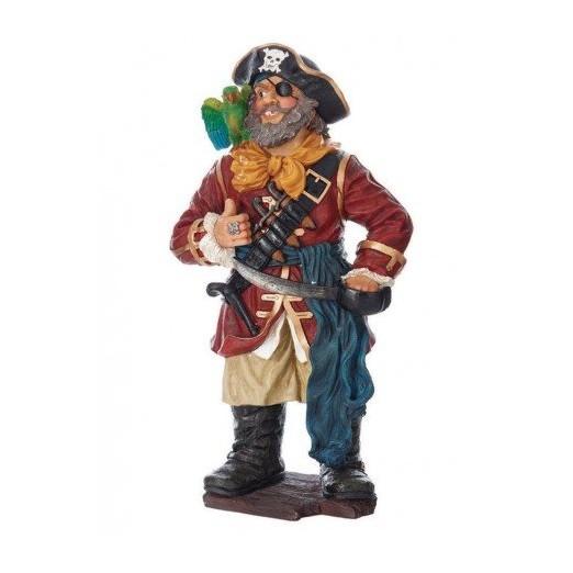 Muñeco Pirata Con Loro