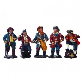 Figuras Cinco Piratas Decoración (5u)
