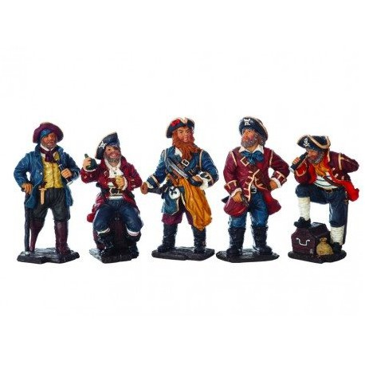 Figuras Cinco Piratas Decoración