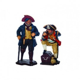 Figura Dos Piratas Decoración