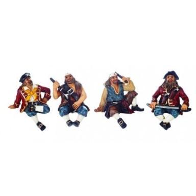 Cuatro Piratas Sentados Decoración
