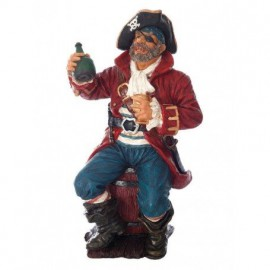 Pirata Con Botella Decoración (1u)