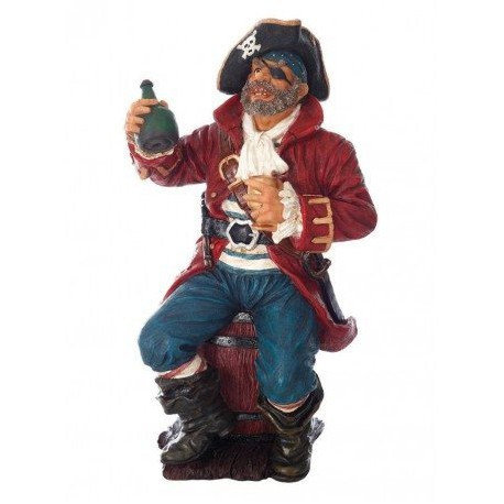 Pirata Con Botella Decoración