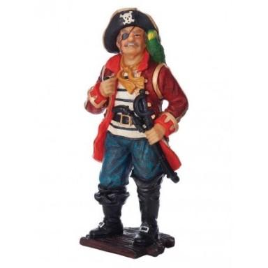 Personaje Pirata Con Loro Decoración