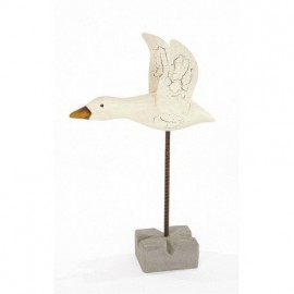 Pájaro Marinero Blanco Decorativo