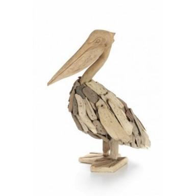 Pelicano en Madera Decoración (1u)