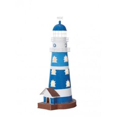 Faro Vela Azul eléctrico Decoración