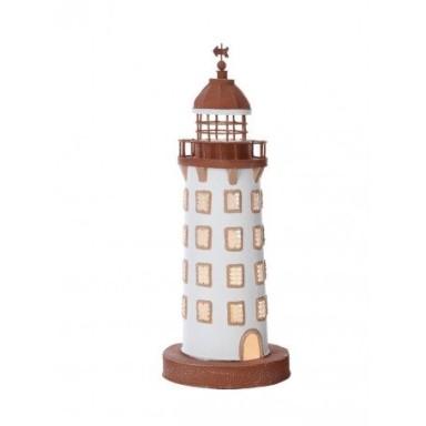 Lámpara Faro de Hojalata Decoración Marina