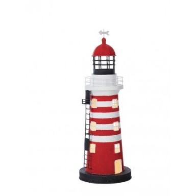 Lámpara Faro Náutico Rojo Decoración