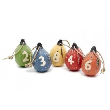 Colgante Boyas Colores con números Decoración