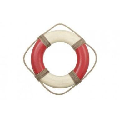 Salvavidas Rústico Mediano Rojo y Blanco