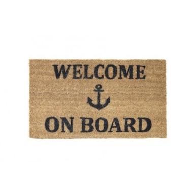 Felpudo de coco Welcome on Board