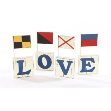 Código banderas Love Decoración