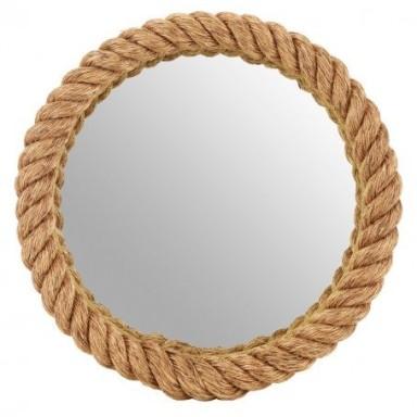 Espejo Redondo Cuerda Marinera Decoración (1u)