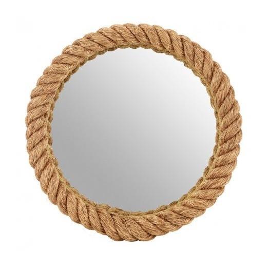 Espejo redondo cuerda marinera decoraci n nautica avi o for Espejo redondo grande