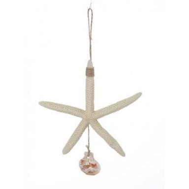 Estrella de Mar Blanca Colgante Decoración (6u)