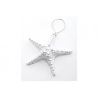 Colgante Estrella de Mar Blanca Decoración (6u)