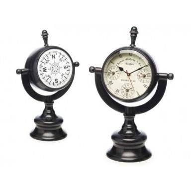 Reloj Rotativo en Metal Decoración