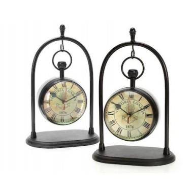 Reloj Basculante en Latón Viejo