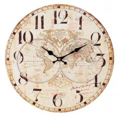 Reloj de Pared Hemisferios Decoración