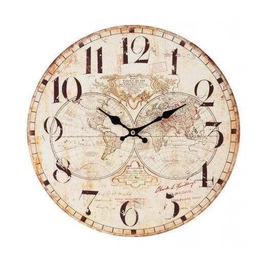 Reloj de pared hemisferios decoraci n nautica avi o - Relojes de decoracion ...
