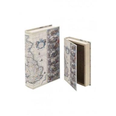 Caja Libro Mapa