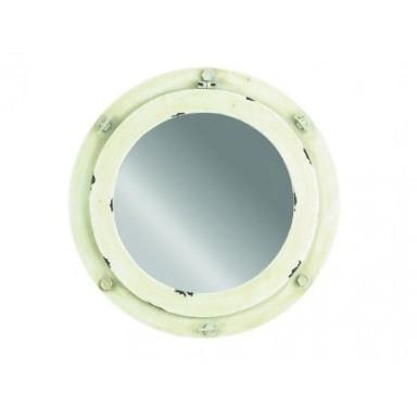 Espejo Portillo Blanco Rústico (1u)