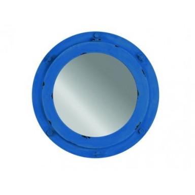 Espejo Portillo Azul Rústico
