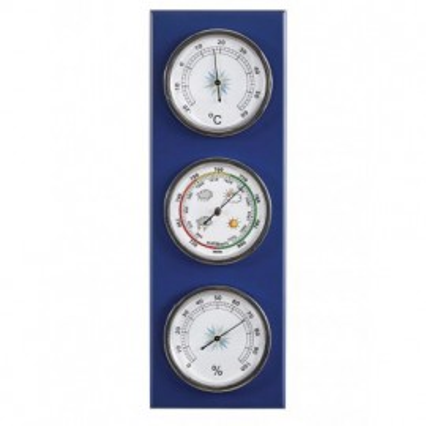 Estación Meteorológica Barómetro Termómetro Higrómetro Azul