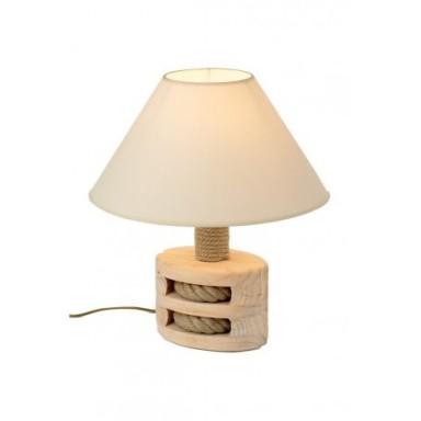 Lámpara Decorativa Polea Madera Oscura (1u)