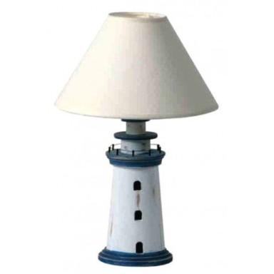 Lámpara Faro Decorativo Azul Blanco Rústico (2u)