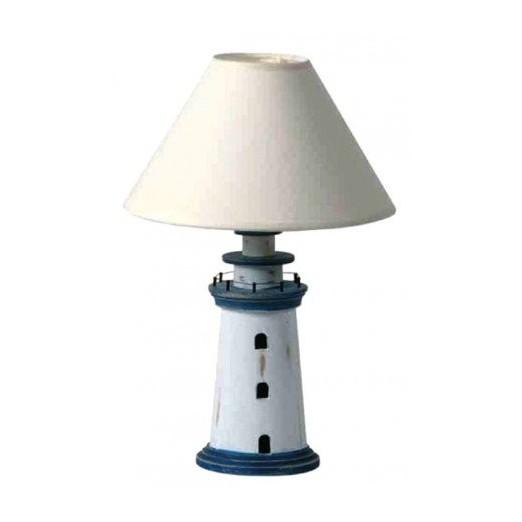 Lámpara Faro Decorativo Azul Blanco Rústico