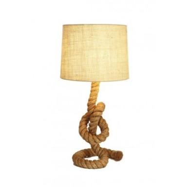 Lámpara Náutica Cuerda Cáñamo Nudo (1u)