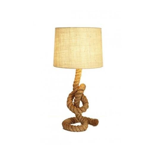 Lámpara Náutica Cuerda Cáñamo Nudo
