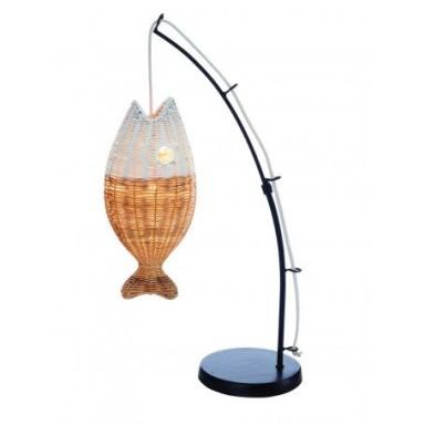 Lámpara Caña Pescar Pez Blanco (1u)