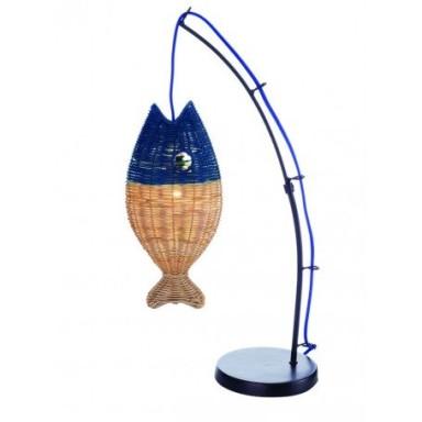 Lámpara Caña Pescar Pez Azul