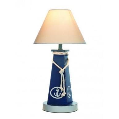 Lámpara Decorativa Baliza Azul Ancla (1u)