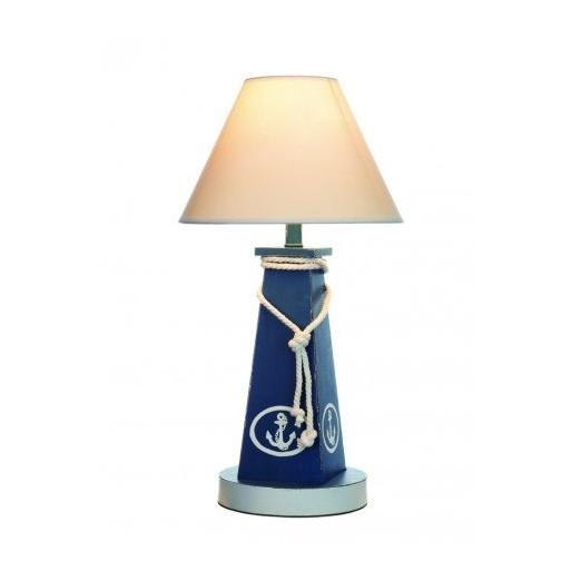 Lámpara Decorativa Baliza Azul Ancla