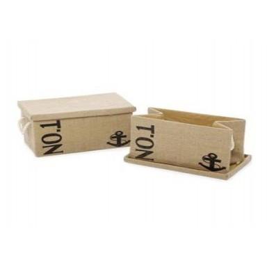 Caja Decoración Ordenación Yute