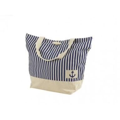 Bolsa Marinera Azul Blanca Lineas Verticales
