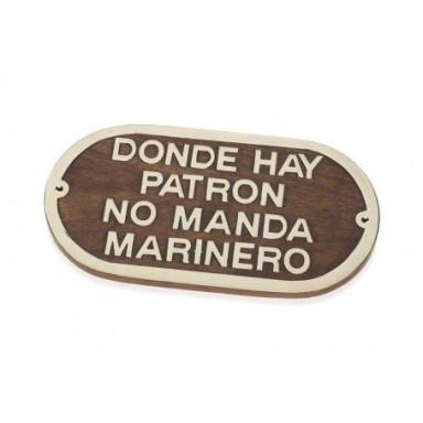Placa Decorativa Donde Hay Patrón No Manda Marinero (2u)