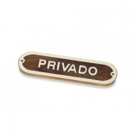 Placa Decorativa Privado